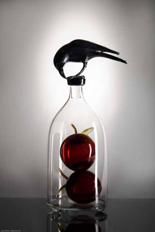 crow-and-red-apples